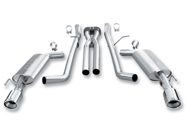 "Pontiac Gto 6.0l V8 2005-2006 Borla 2.5"" Cat-Back Exhaust System - Single Round Rolled Angle-Cut Lined"