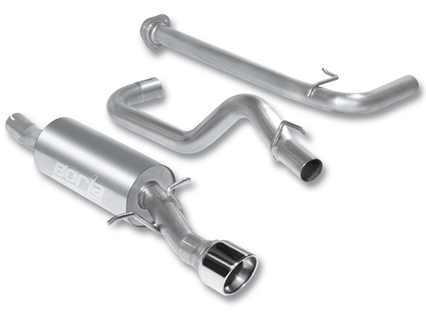 "Chevrolet Cobalt SS 2.0l Turbo 2008-2010 Borla 2.5"" Cat-Back Exhaust System - Single Round Rolled Angle-Cut Lined"
