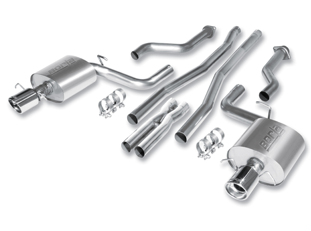 "Cadillac CTS V Sedan 2009-2011 Borla 2.5"" Multicore Cat-Back Exhaust System (xr-1 Tech, Offroad Only) - Single Round Rolled Angle-Cut Lined"