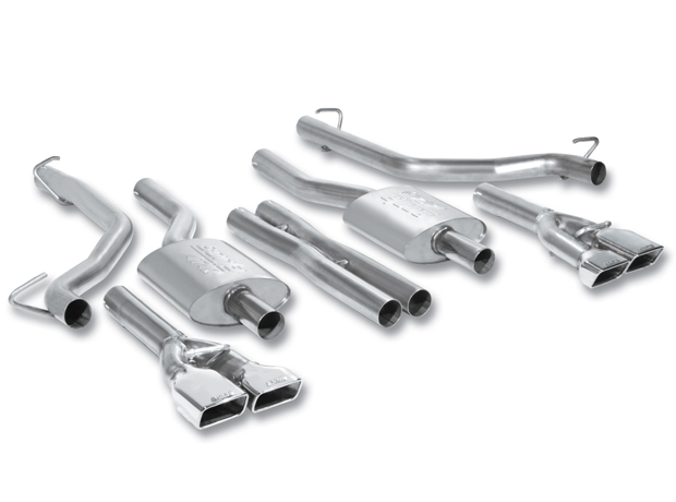 Dodge Challenger Rt 5.7l V8 2009-2011 Borla 2.5&#34; Cat-Back Exhaust System &quot;Atak&quot; - Single Round Rolled Angle-Cut Intercooled Tipssingle Round Rolled Angle-Cut Tips