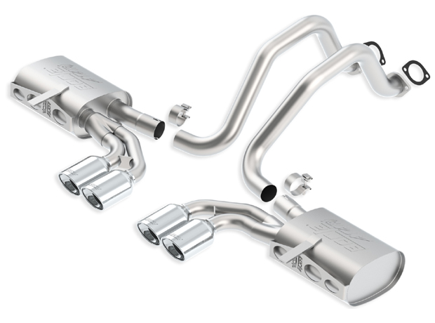 "Chevrolet Corvette C5/Z06 5.7l V8 1997-2004 Borla 2.5"", 2"" Cat-Back Exhaust System ""atak"" - Dual Oval Rolled Angle-Cut"