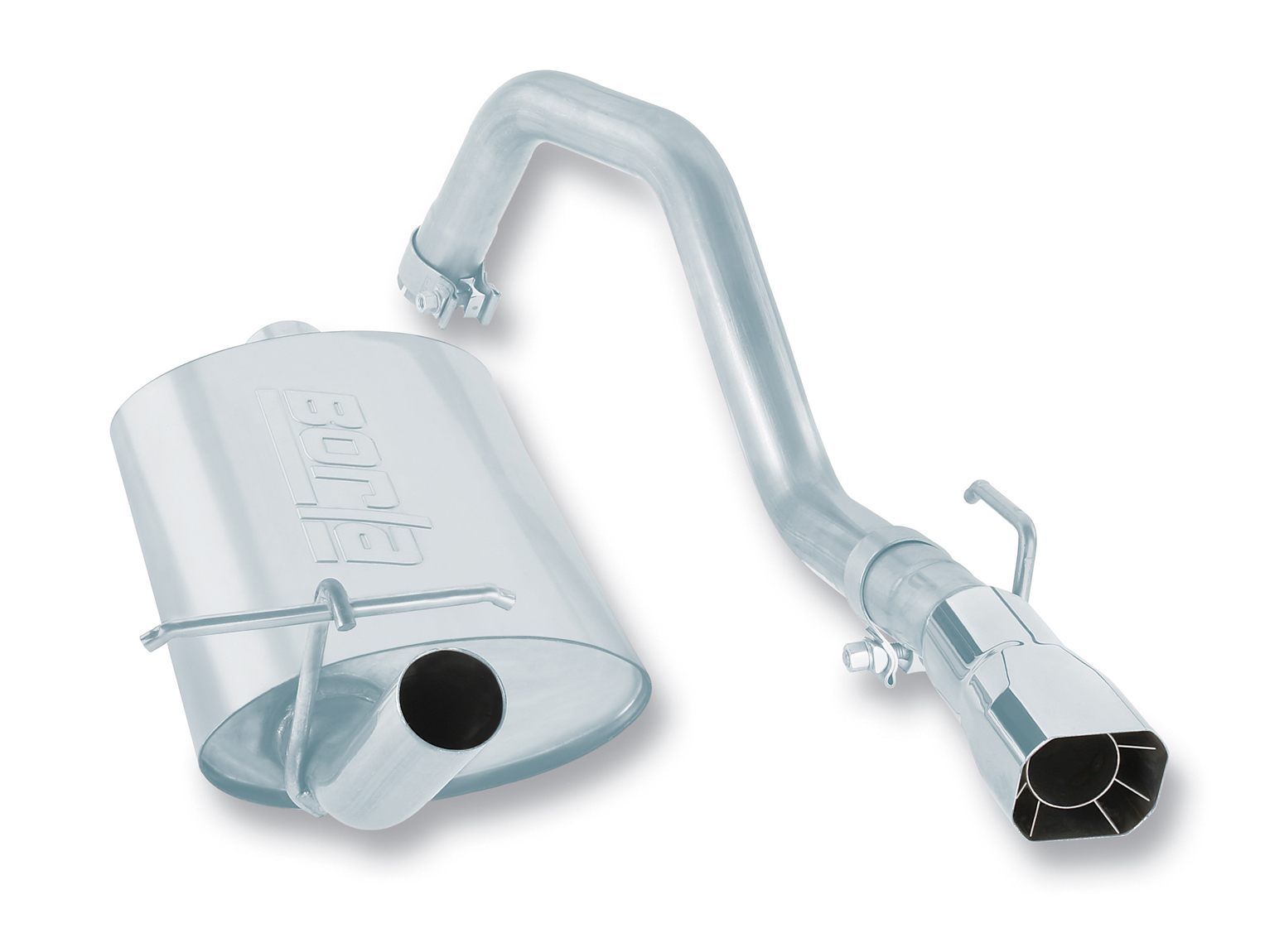"Jeep Wrangler 4.2l 6cyl 1988-1990 Borla 2.25"", 2"" Cat-Back Exhaust System - Single Square Intercooled Tips"