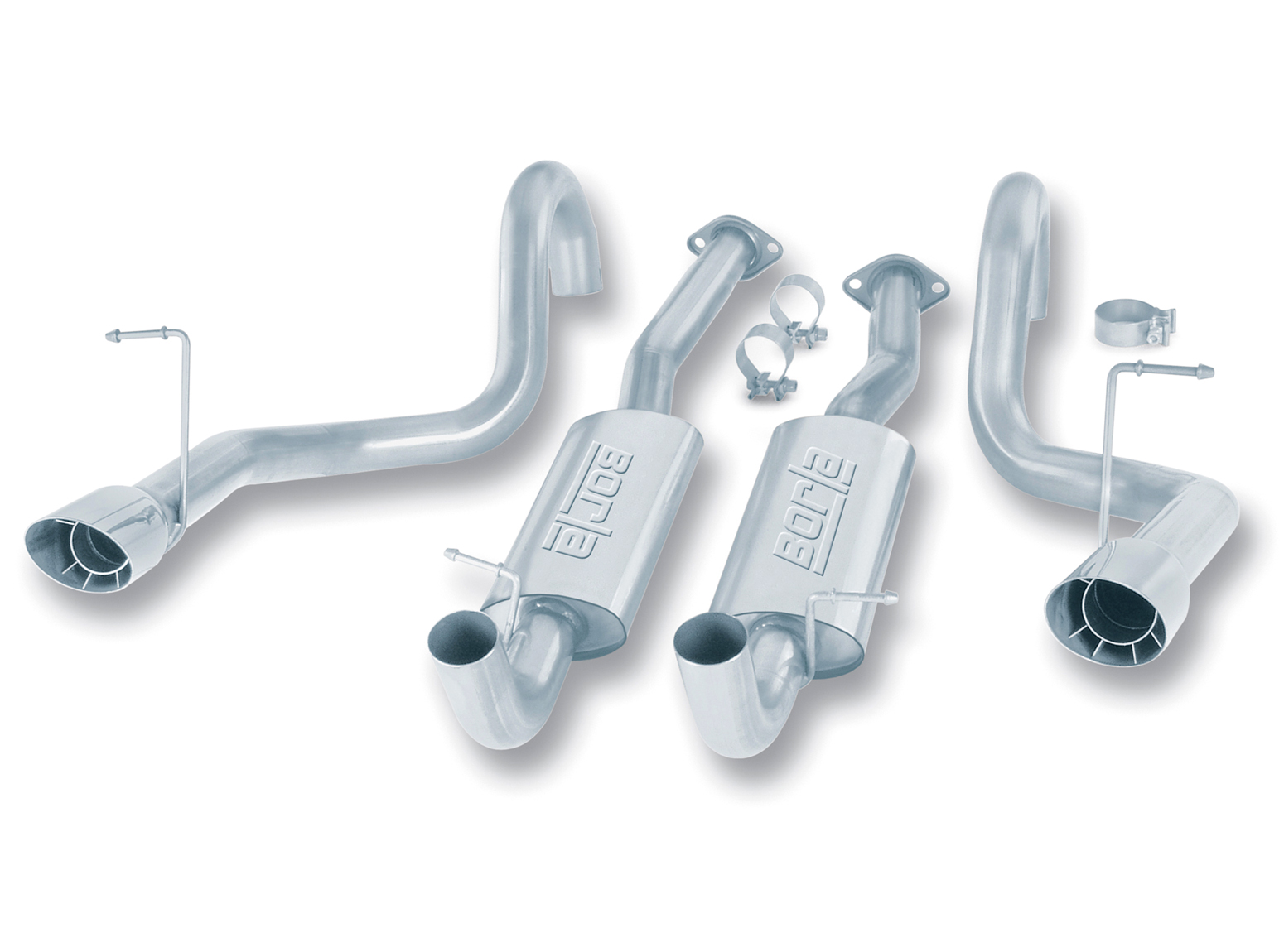 "Ford Mustang Gt 1994-1995 Borla 2.5"" Cat-Back Exhaust System - Single Round Angle-Cut Intercooled"