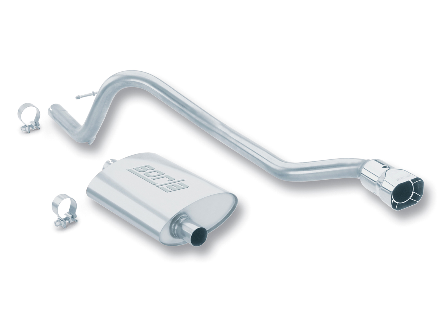 "Jeep Cherokee 4.0l 6cyl 1993-1996 Borla 2.25"", 2"" Cat-Back Exhaust System - Single Square Angle-Cut Intercooled Tips"