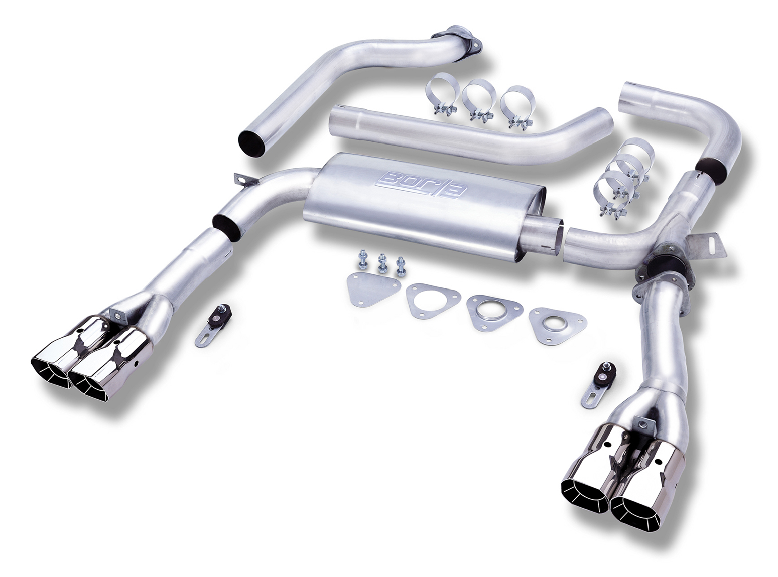 "Pontiac Firebird Trans Am 1993-1995 Borla 3"" Cat-Back Exhaust System 3"" Adj System - Dual Square Angle-Cut Intercooled"