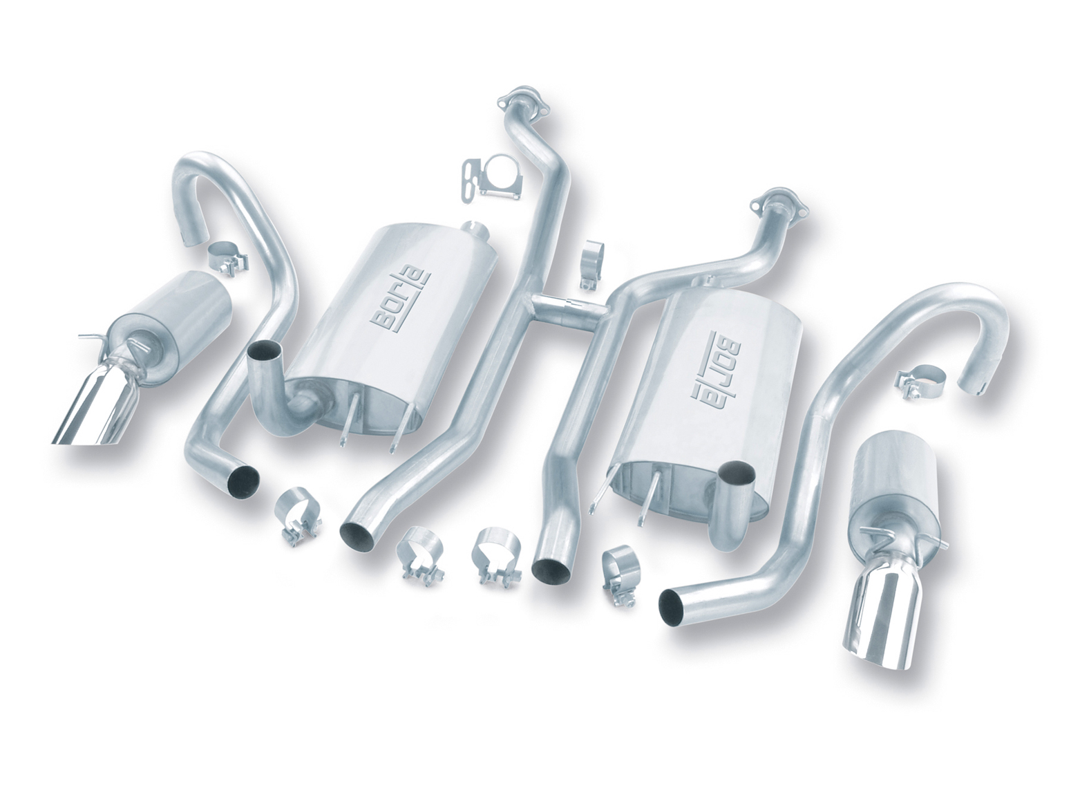 "Chevrolet Impala SS 5.7l V8 1994-1996 Borla  2"" Cat-Back Exhaust System (h-Pipe) - Single Round Angle-Cut Intercooled"