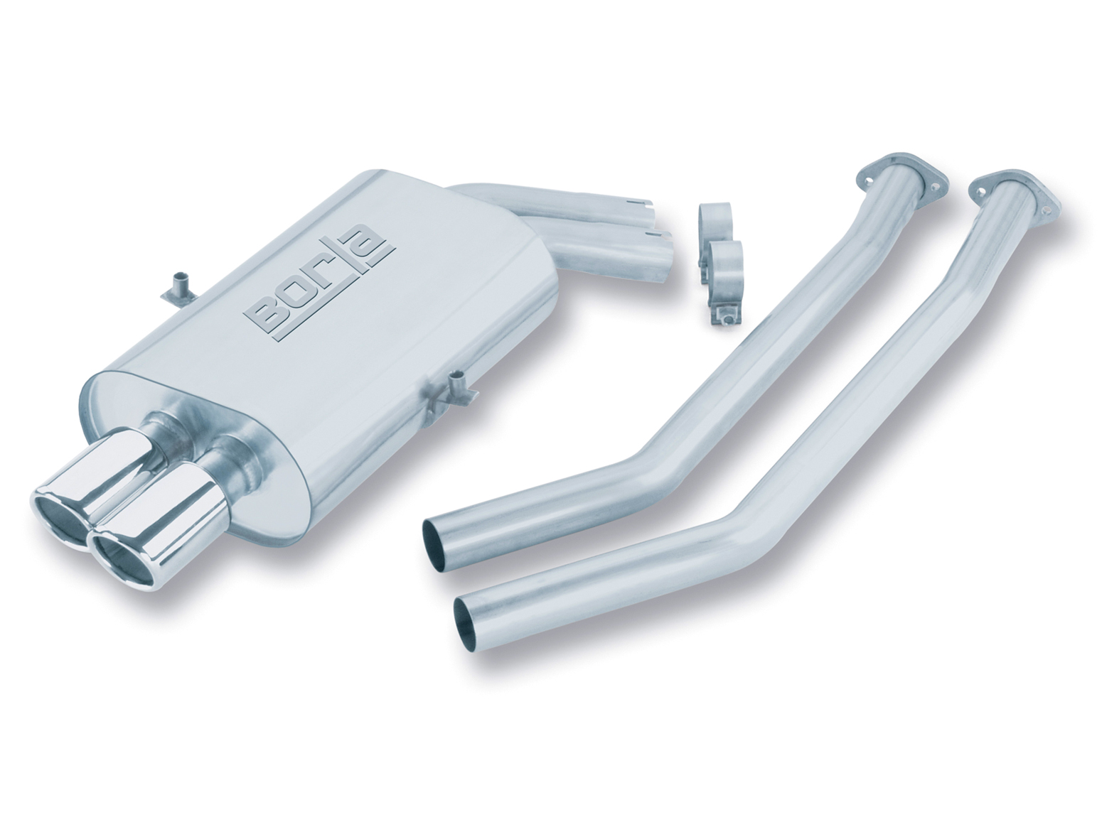"Bmw 3 Series 325i/328i/M3 1992-1999 Borla 2"" Cat-Back Exhaust System - Dual Round Rolled Angle-Cut"