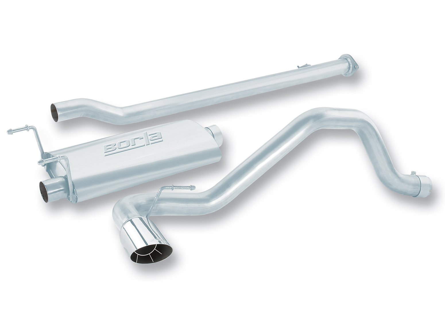 "Toyota Tacoma  1995-1999 Borla 2.5"" Cat-Back Exhaust System - Single Round Angle-Cut Intercooled"