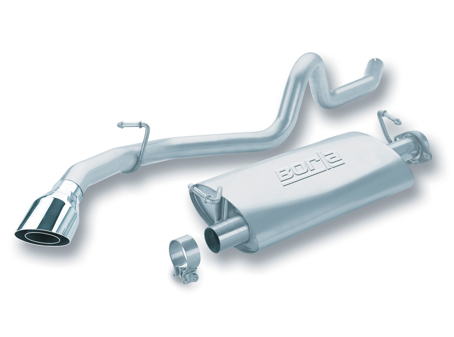 "Land Rover Range Rover 3.9l/4.2l V8 1990-1995 Borla 2.25"" Cat-Back Exhaust System - Single Round Rolled Angle-Cut Lined"