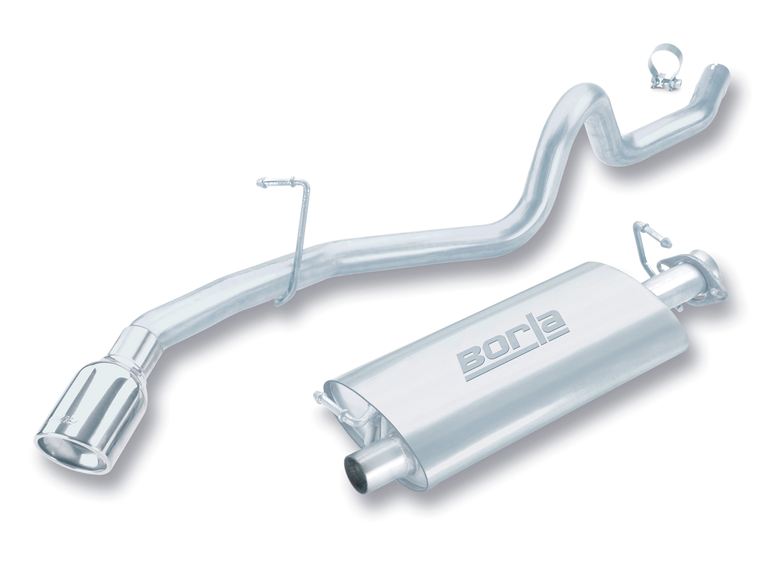 "Land Rover Discovery I. 3.9l/4.0l V8 1994-1999 Borla 2.25"" Cat-Back Exhaust System - Single Round Rolled Angle-Cut"