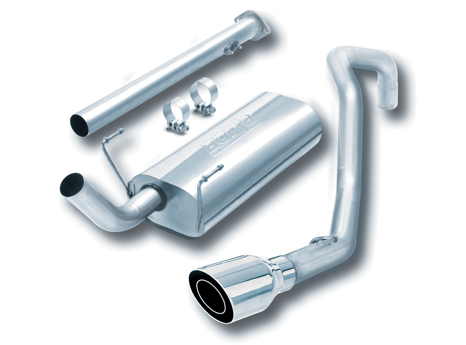 "Toyota 4Runner  1996-1999 Borla 2.5"", 2.25"" Cat-Back Exhaust System - Single Round Angle-Cut Phantom"