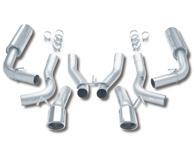 "Dodge Viper Gts/Rt-10 8.0l V10 1996-2002 Borla 3"" Cat-Back Exhaust System - Dual Round Rolled Angle-Cut Tips"