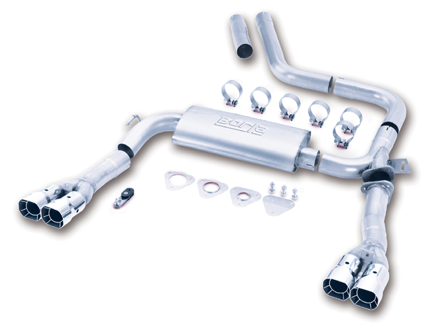 "Pontiac Firebird Trans Am 1998-2002 Borla 3"" Cat-Back Exhaust System 3"" Adj System - Dual Square Angle-Cut Intercooled"