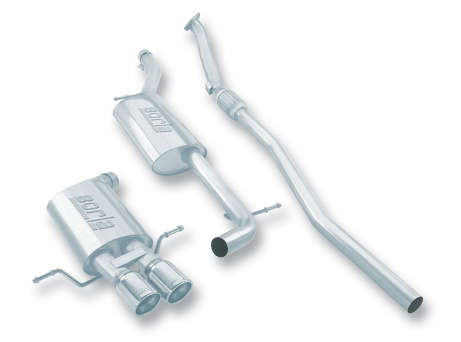 "Audi A4 Quattro 1.8t 1997-2001 Borla 2.25"" Cat-Back Exhaust System - Dual Round Rolled Angle-Cut"