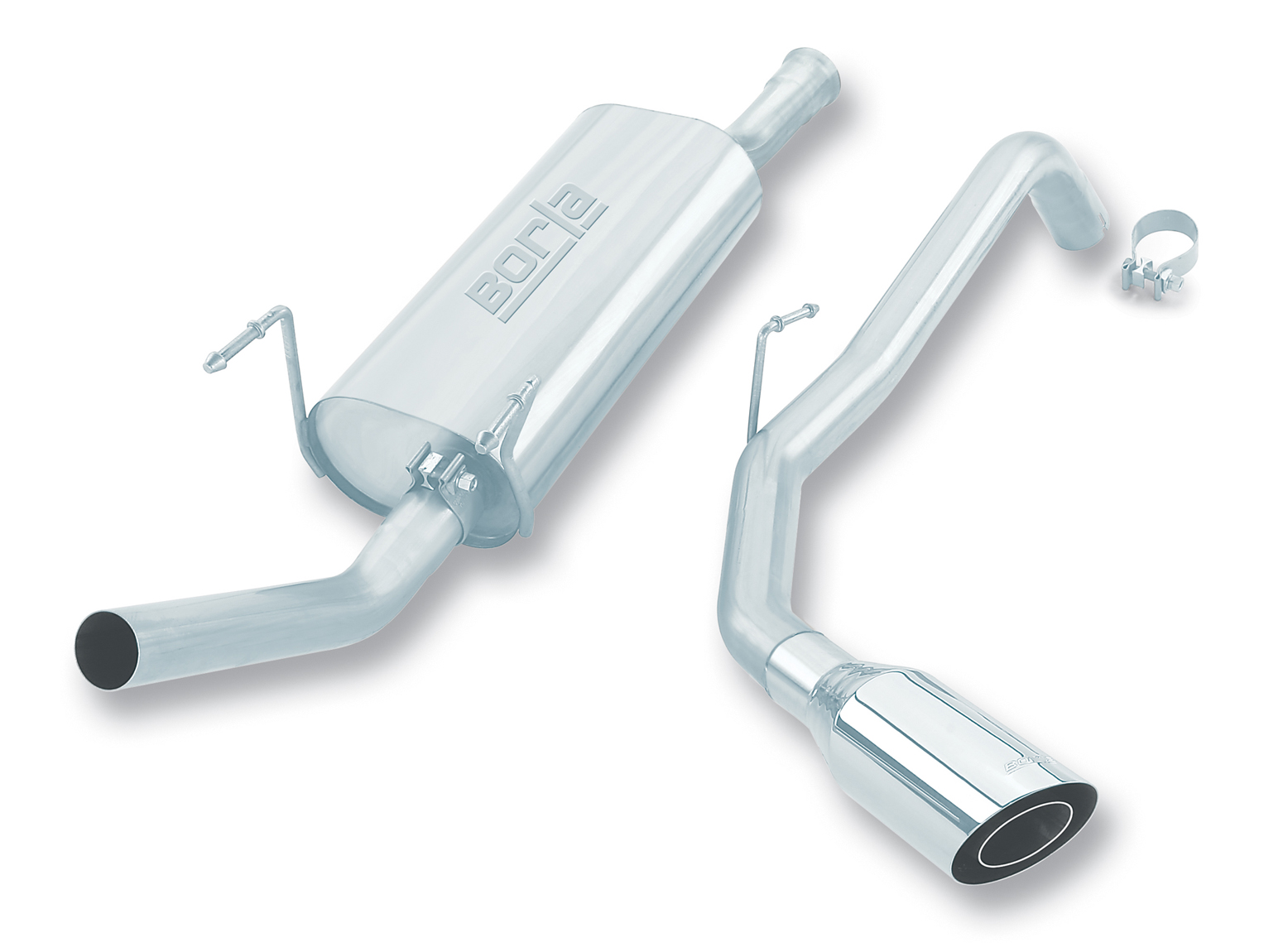 "Toyota Tundra  2000-2006 Borla 2.25"" Cat-Back Exhaust System - Single Round Angle-Cut Phantom"