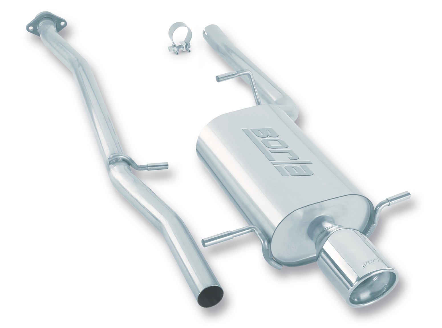 "Subaru Impreza  1996-2001 Borla 2"" Cat-Back Exhaust System - Single Round Rolled Angle-Cut Lined"