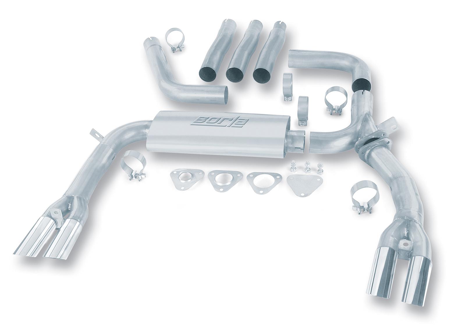 "Pontiac Firebird Trans Am 1984-1992 Borla 3"" Cat-Back Exhaust System 3"" Adj System - Dual Round Angle-Cut"