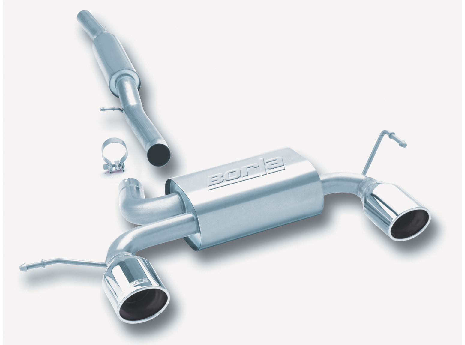 "Audi TT Quattro 1.8t 2001-2006 Borla 2.5"" Cat-Back Exhaust System - Single Oval Rolled Angle-Cut"
