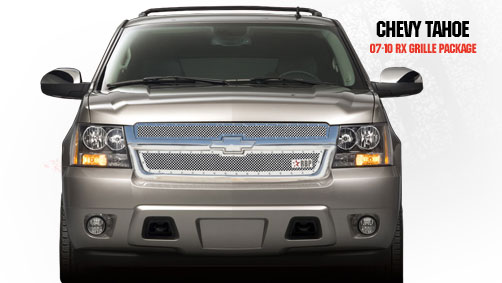 Chevrolet Tahoe  2007-2011 - Rbp Rx Series Studded Frame Main Grille Chrome 2pc