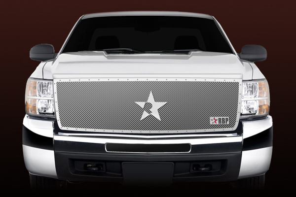 Chevrolet Silverado 2500hd/3500hd 2003-2004 - Rbp Rx Series Studded Frame Main Grille Chrome 1pc