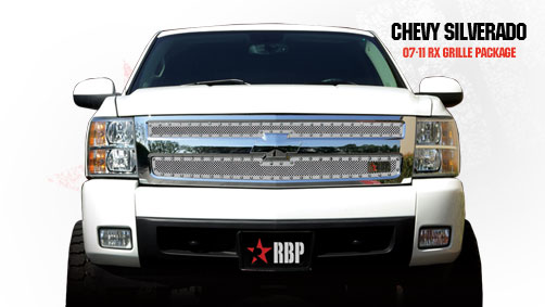 Chevrolet Silverado 1500 2007-2011 - Rbp Rx Series Studded Frame Main Grille Chrome 2pc