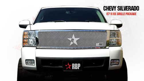 Chevrolet Silverado 1500 2007-2011 - Rbp Rx Series Studded Frame Main Grille Chrome 1pc