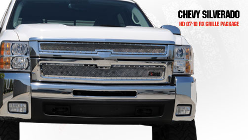 Chevrolet Silverado 2500hd/3500hd 2007-2010 - Rbp Rx Series Studded Frame Main Grille Chrome 2pc