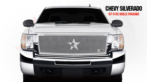 Chevrolet Silverado 2500hd/3500hd 2007-2010 - Rbp Rx Series Studded Frame Main Grille Chrome 1pc