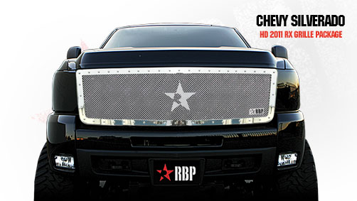Chevrolet Silverado 2500hd/3500hd 2011-2012 - Rbp Rx Series Studded Frame Main Grille Chrome 1pc