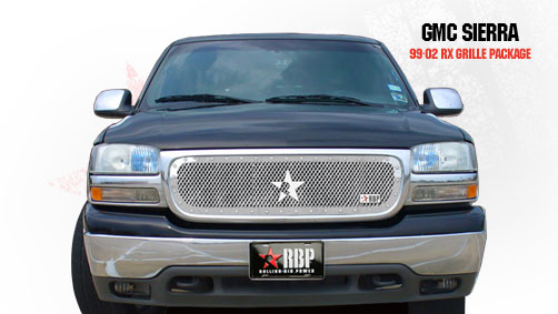 Gmc Sierra (all Models Except C3) 1999-2002 - Rbp Rx Series Studded Frame Main Grille Chrome