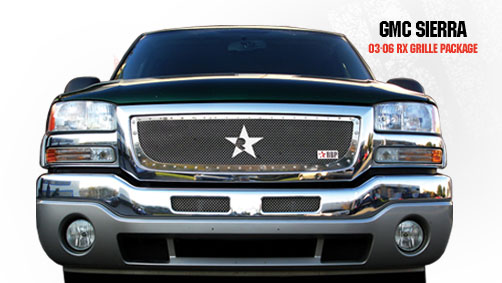 Gmc Sierra (all Models Except C3) 2003-2006 - Rbp Rx Series Studded Frame Main Grille Chrome