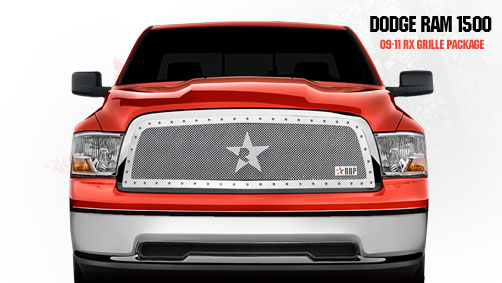 Dodge Ram 1500 2009-2011 - Rbp Rx Series Studded Frame Main Grille Chrome 1pc