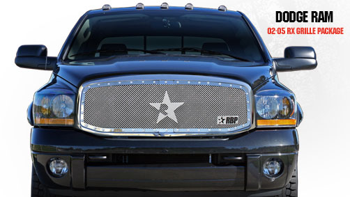Dodge Ram 1500/2500/3500 2002-2005 - Rbp Rx Series Studded Frame Main Grille Chrome 1pc