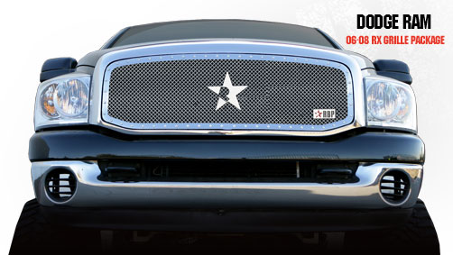 Dodge Ram 1500/2500/3500 2006-2008 - Rbp Rx Series Studded Frame Main Grille Chrome 1pc