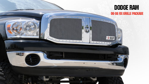 Dodge Ram 1500/2500/3500 2006-2008 - Rbp Rx Series Studded Frame Main Grille Chrome 2pc