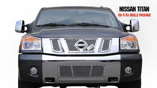 Nissan Titan  2008-2011 - Rbp Rx Series Studded Frame Main Grille Chrome 3pc