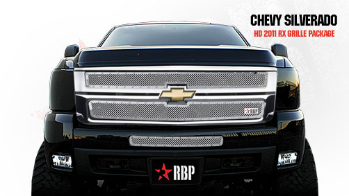 Chevrolet Silverado 2500hd/3500hd 2011-2012 - Rbp Rx Series Studded Frame Bumper Grille Chrome 1pc