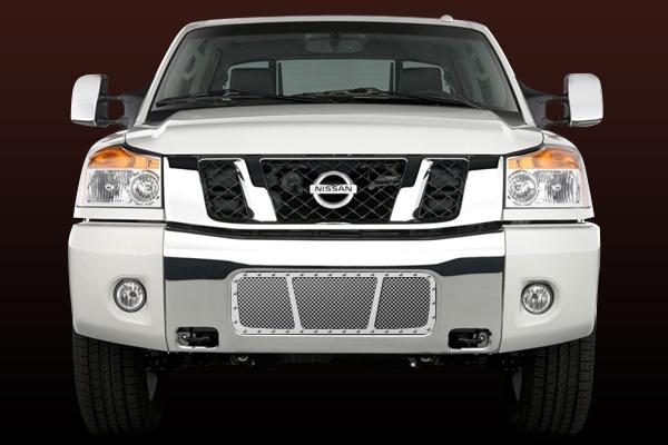 Nissan Titan  2004-2009 - Rbp Rx Series Studded Frame Bumper Grille Chrome