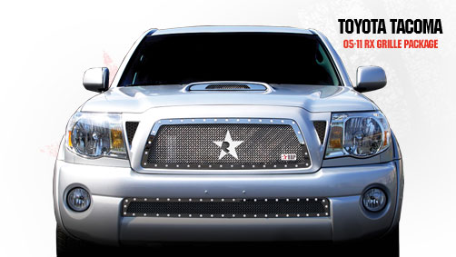 Toyota Tacoma  2005-2011 - Rbp Rx Series Studded Frame Bumper Grille Chrome
