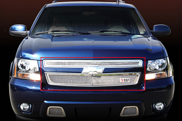 Chevrolet Tahoe  2007-2011 - Rbp Rl Series Plain Frame Main Grille Chrome 2pc