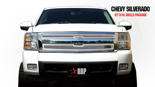 Chevrolet Silverado 1500 2007-2011 - Rbp Rl Series Plain Frame Main Grille Chrome 2pc