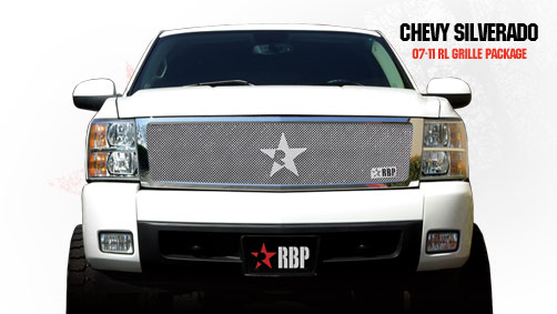 Chevrolet Silverado 1500 2007-2011 - Rbp Rl Series Plain Frame Main Grille Chrome 1pc