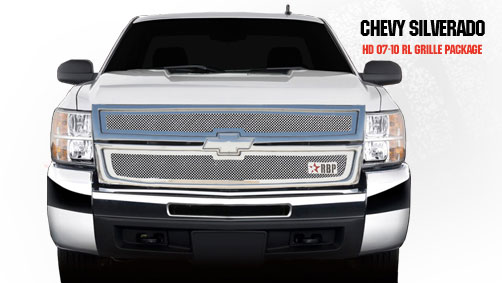 Chevrolet Silverado 2500hd/3500hd 2007-2010 - Rbp Rl Series Plain Frame Main Grille Chrome 2pc