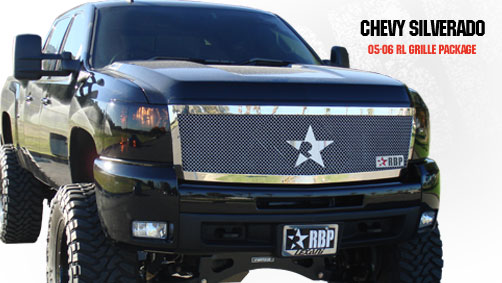 Chevrolet Silverado 2500hd/3500hd 2007-2010 - Rbp Rl Series Plain Frame Main Grille Chrome 1pc