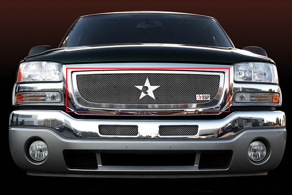 Gmc Sierra (all Models Except C3) 2003-2006 - Rbp Rl Series Plain Frame Main Grille Chrome