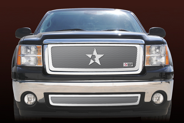 Gmc Sierra 1500 (except All - Terrain Edition) 2007-2011 - Rbp Rl Series Plain Frame Main Grille Chrome