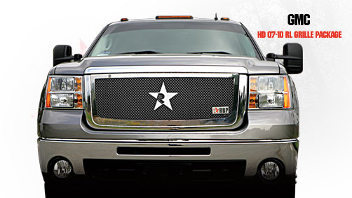 Gmc Sierra 2500hd, 3500 2007-2010 - Rbp Rl Series Plain Frame Main Grille Chrome