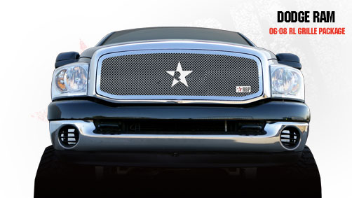 Dodge Ram 1500/2500/3500 2006-2008 - Rbp Rl Series Plain Frame Main Grille Chrome 1pc