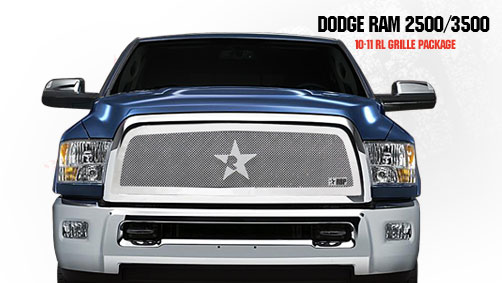 Dodge Ram 2500/3500 2010-2011 - Rbp Rl Series Plain Frame Main Grille Chrome 1pc