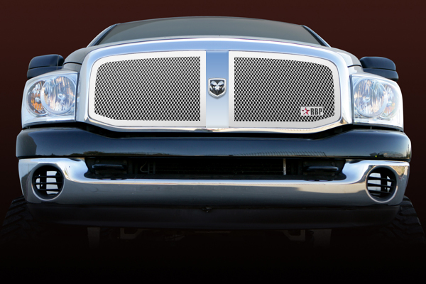Dodge Ram 1500/2500/3500 2006-2008 - Rbp Rl Series Plain Frame Main Grille Chrome 2pc